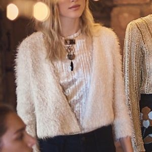 Anthropologie NWT Knitted & Knotted Fuzzy Cardigan